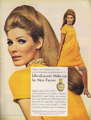 A 1967 Max Factor makeup ad - very 1960s retro appeal.