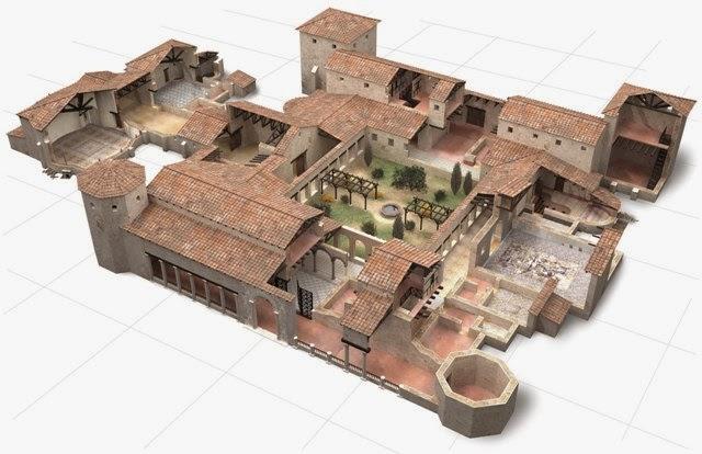Tic en la casa de la fortuna carthago nova en la red la for Villas romanas