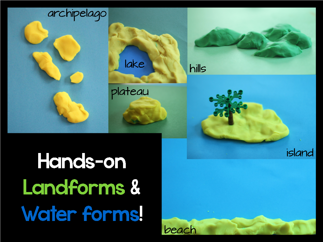 Landforms And Water Forms Resource Roundup Momgineer