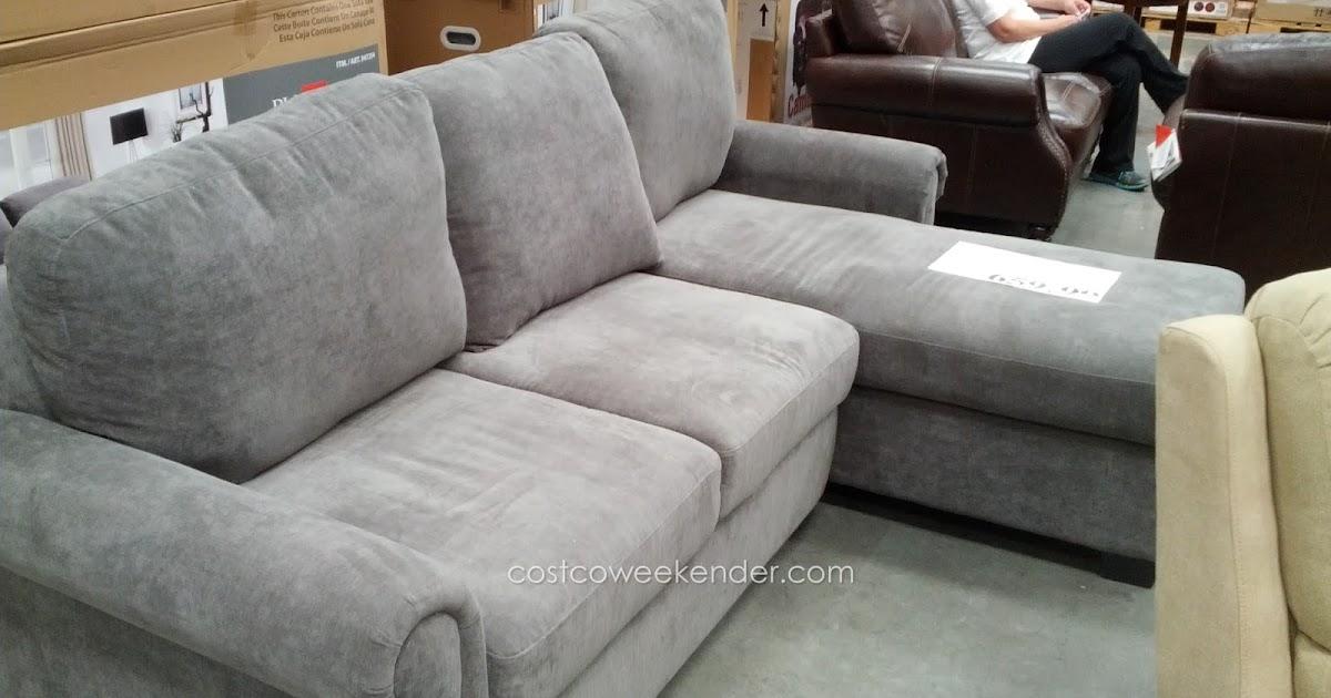 Pulaski newton convertible chaise sofa costco weekender for Chaise lounge costco