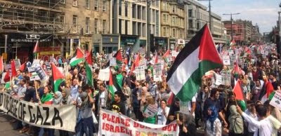 Thousands in Edinburgh demand peace for Gaza