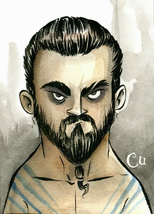 05-Game-of-Thrones-Khal-Drogo-Chris-Uminga-Game-of-Thrones-Watercolours-www-designstack-co
