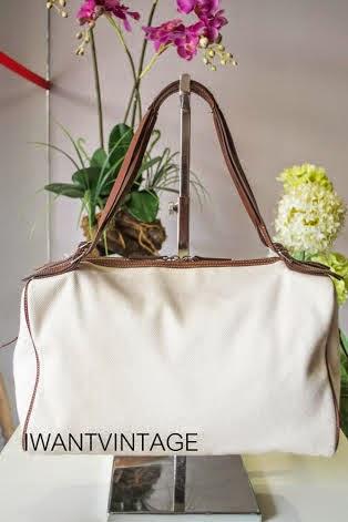 I Want Vintage | Vintage Designer Handbags: Celine Ivory Logo ...