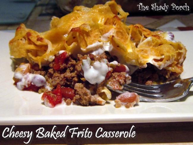 Cheesy Baked Frito Casserole