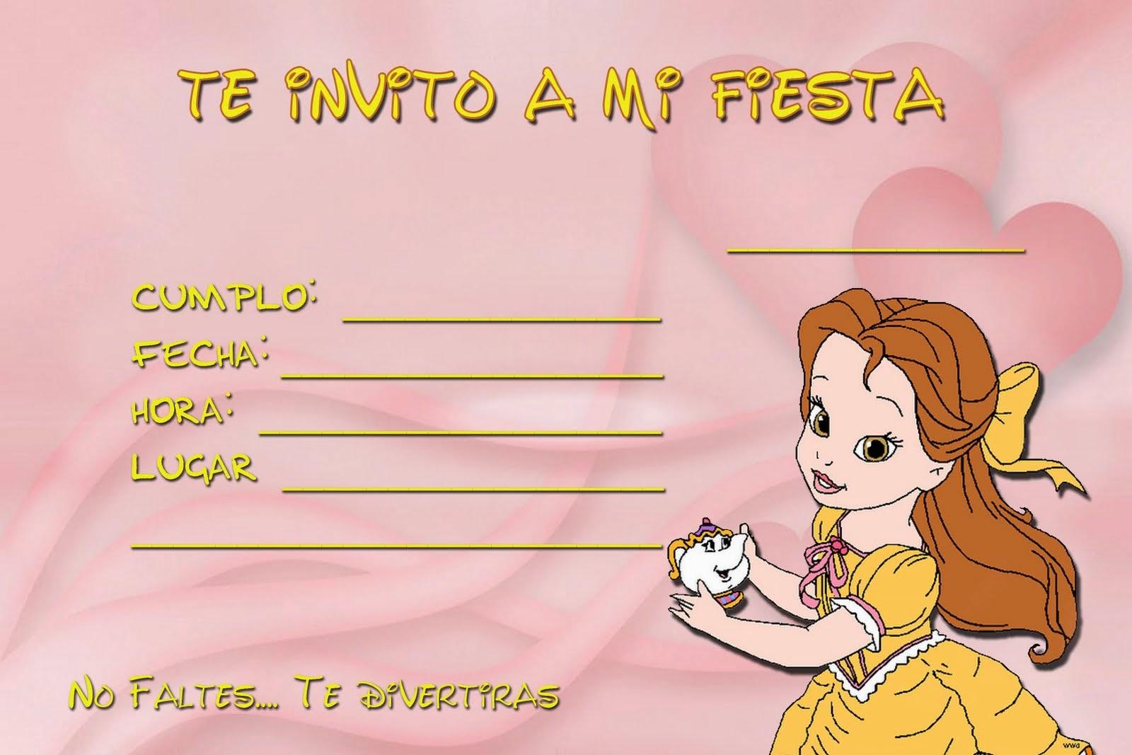 Colección de Gifs ®: INVITACIONES FIESTA INFANTIL