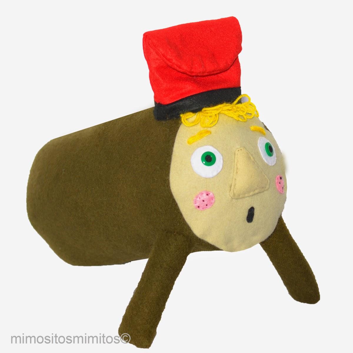 caga tió de nadal hecho a mano handmade xmas stuffed toy decoración navidad