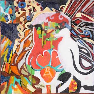 artiste peintre montpellier - La Tulipe et le moulin a vent