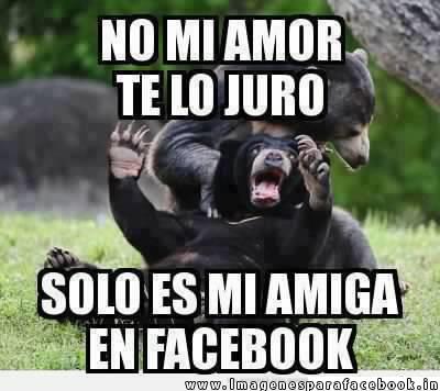 No mi amor solo es una amiga en Facebook