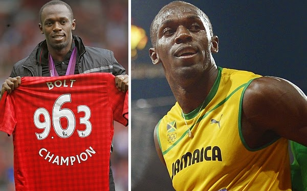 Pelari Usain Bolt, penggemar Manchester United