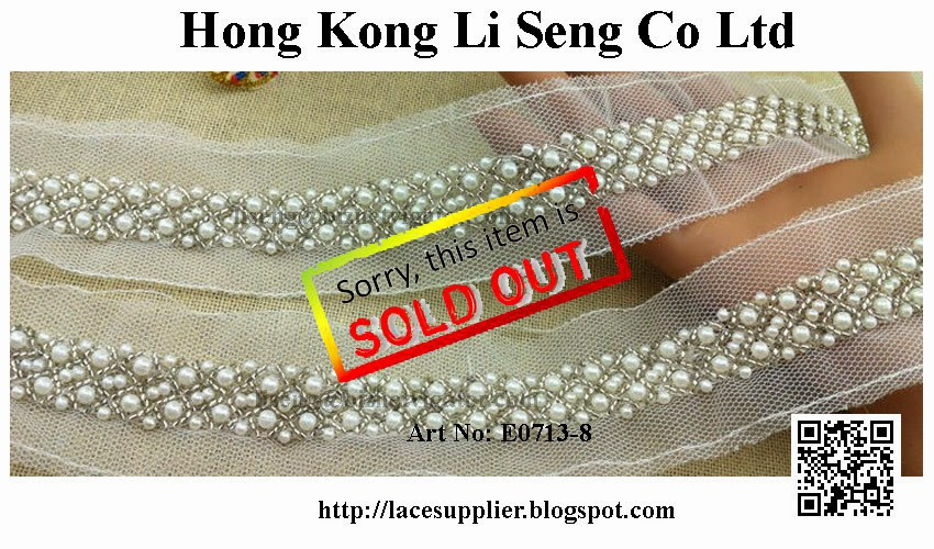 "Beading Organza Lace Trims Manufacturer Wholesaler Supplier "" Hong Kong Li Seng Co Ltd """