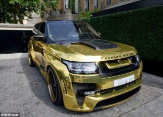 Hartawan Arab Saudi Tunjuk Kekayaan Range Rover Dicat Emas