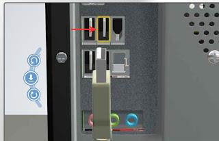 Pemasangan kabel USB