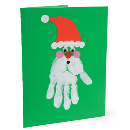 Craft Ideas Baby on Santa Handprint Card Craft You Can Send To Someone Special This Year