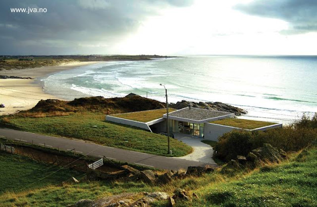 Casa de playa ecológica vista a vuelo de pájaro