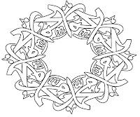 Mewarnai Kaligrafi Contoh Gambar Mewarnai Kaligrafi Allah | Bed ...