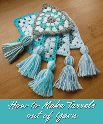 DIY craft tutorial on making yarn tassels for garlands, clothing and more