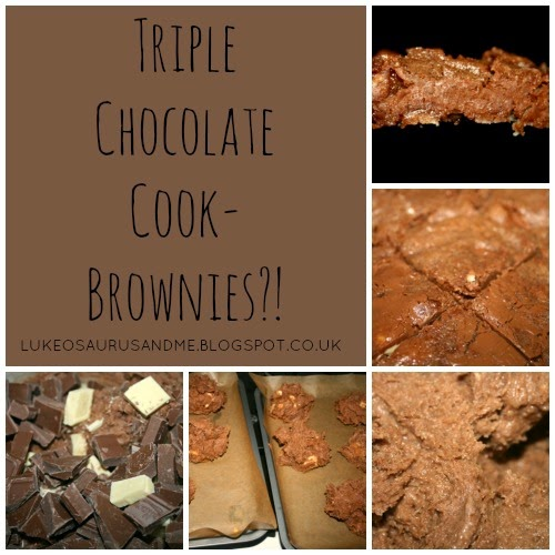 Triple Chocolate Cookies Brownies. Pinterest Header. www.lukeosaurusandme.blogspot.co.uk
