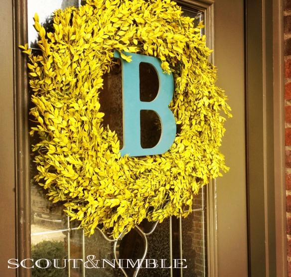 Diy Wedding Wreaths: Wedding Talk: DIY Initial Wreath