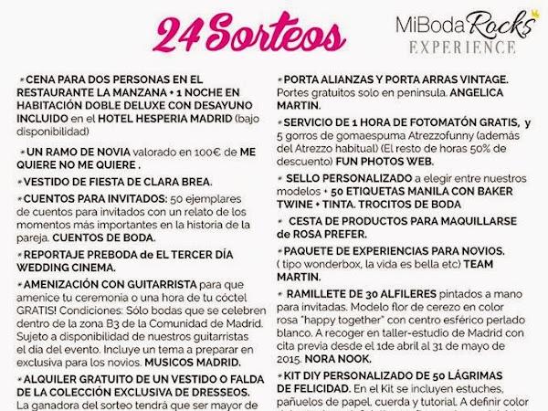 Sorteos de Mi Boda Rocks Experience Madrid 2015