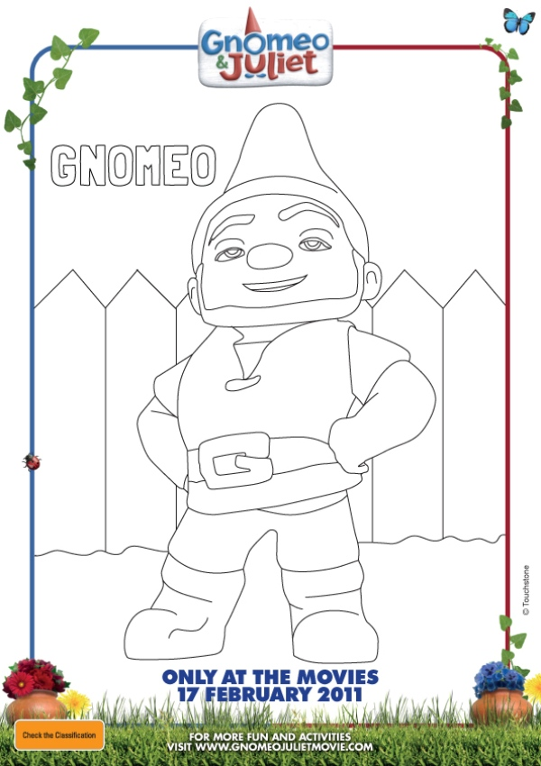 gnomeo and juliet disney coloring pages picture