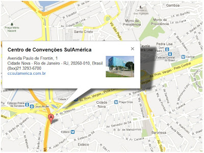 Veja como chegar no 15º Salão do Livro, no Centro de Convenções SulAmérica - RJ