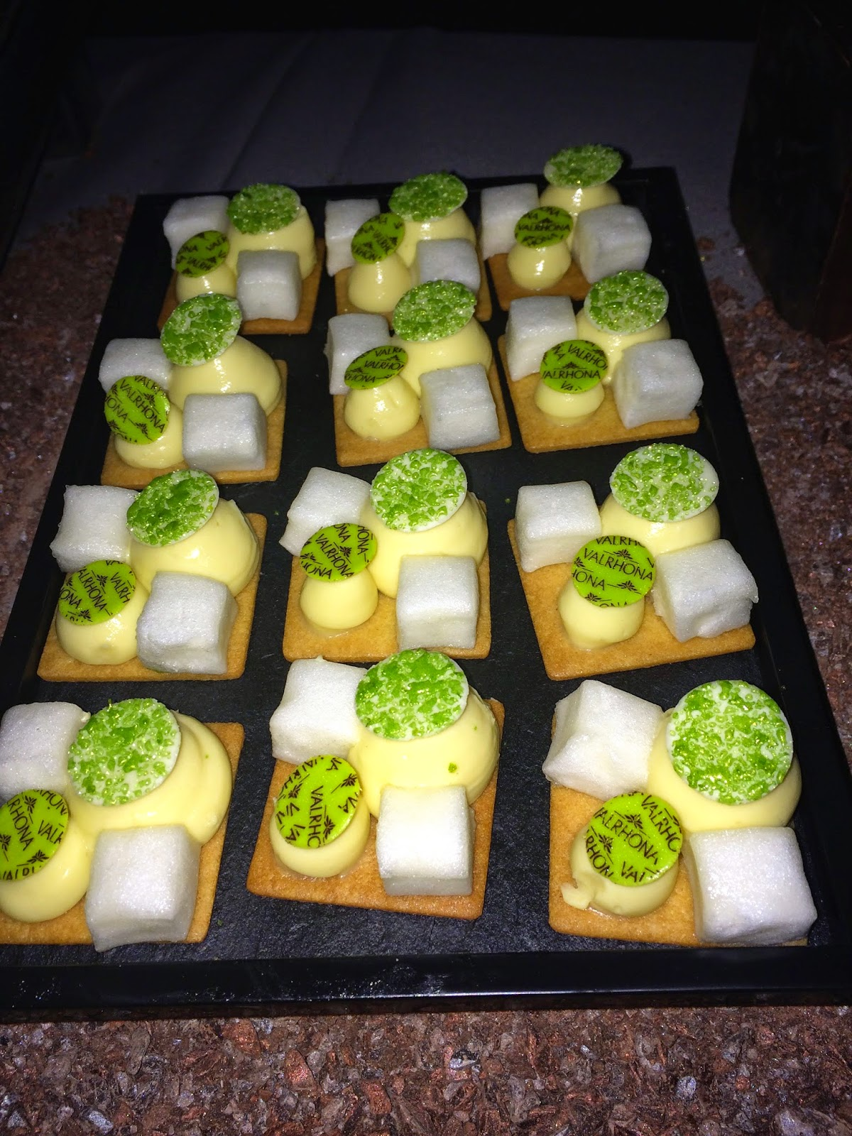 Key lime pie at Valrhona party