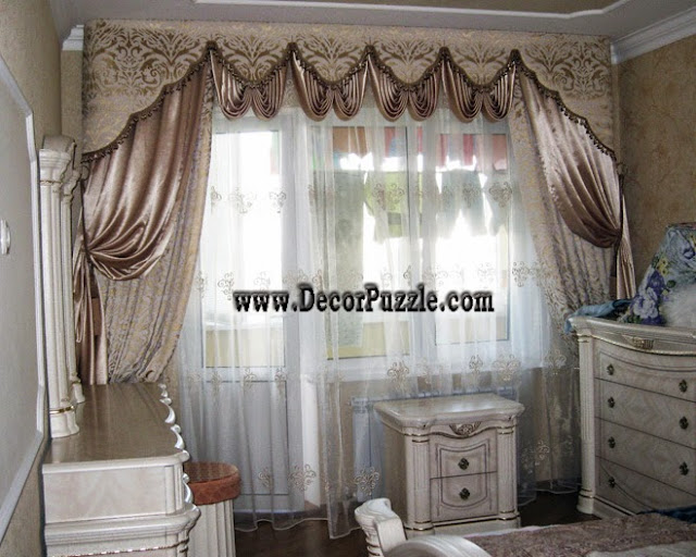 luxury curtains , classic curtains and drapes for bedroom window 2015