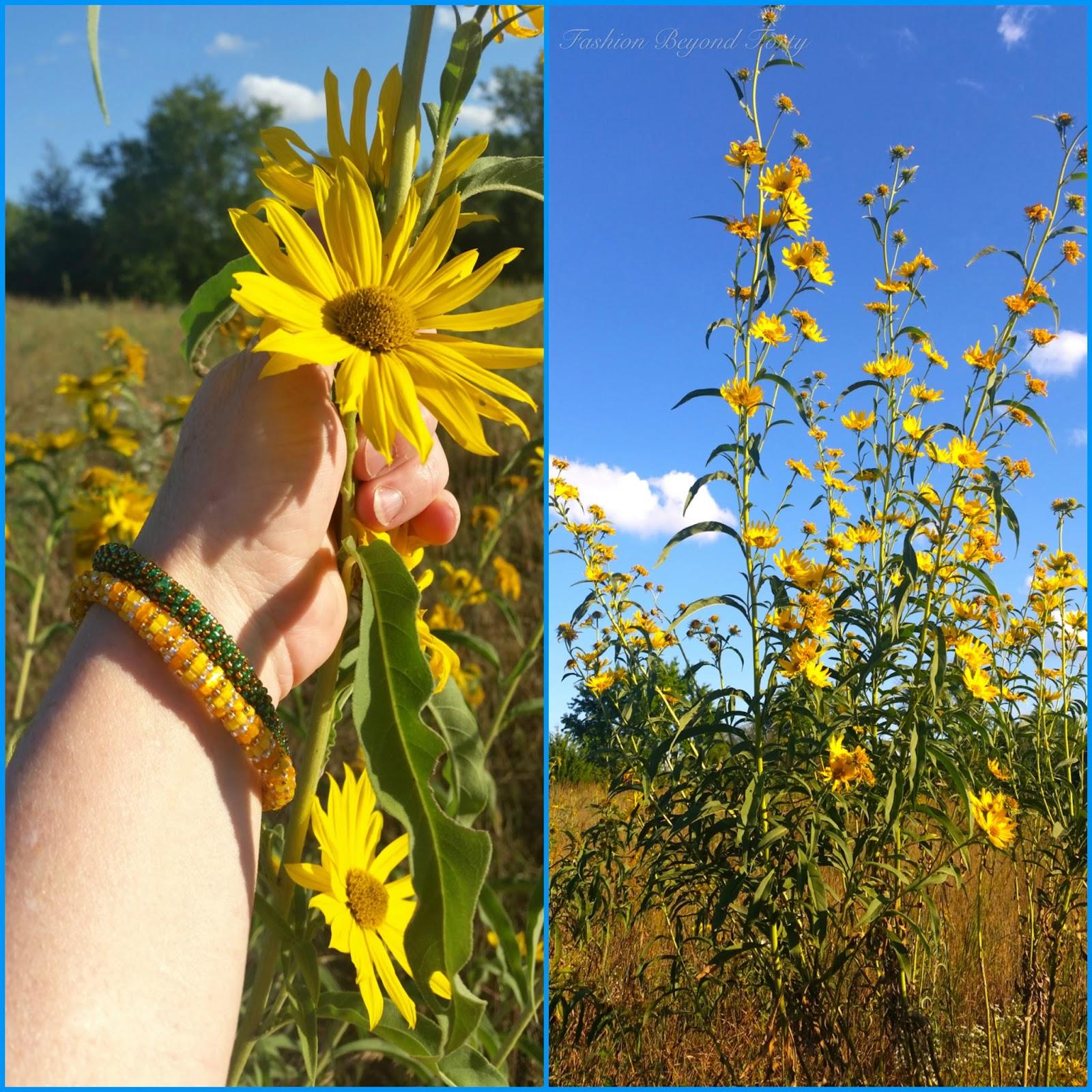 Kansas Sunflowers and SashkaCo Bracelets