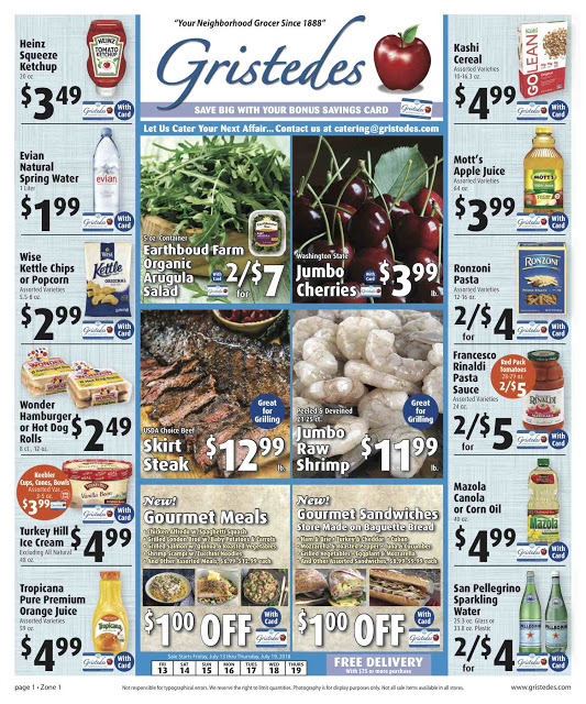CHECK OUT ROOSEVELT ISLAND GRISTEDES Products, SALES & SPECIALS For July 13 - July 19