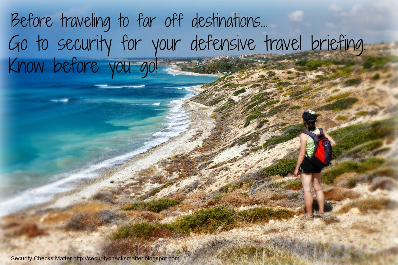 Travel Brief security poster