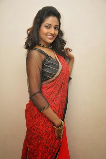 Actress Amitha Rao Pictures in Saree at Chandamama Kathalu Movie Press Meet 0054
