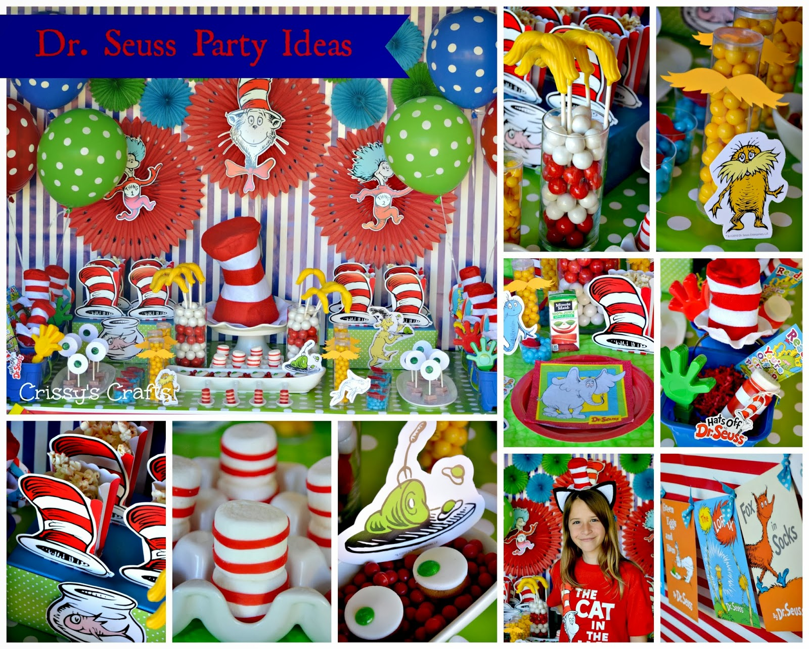 Crissys Crafts Dr Seuss Party Ideas and Snacks