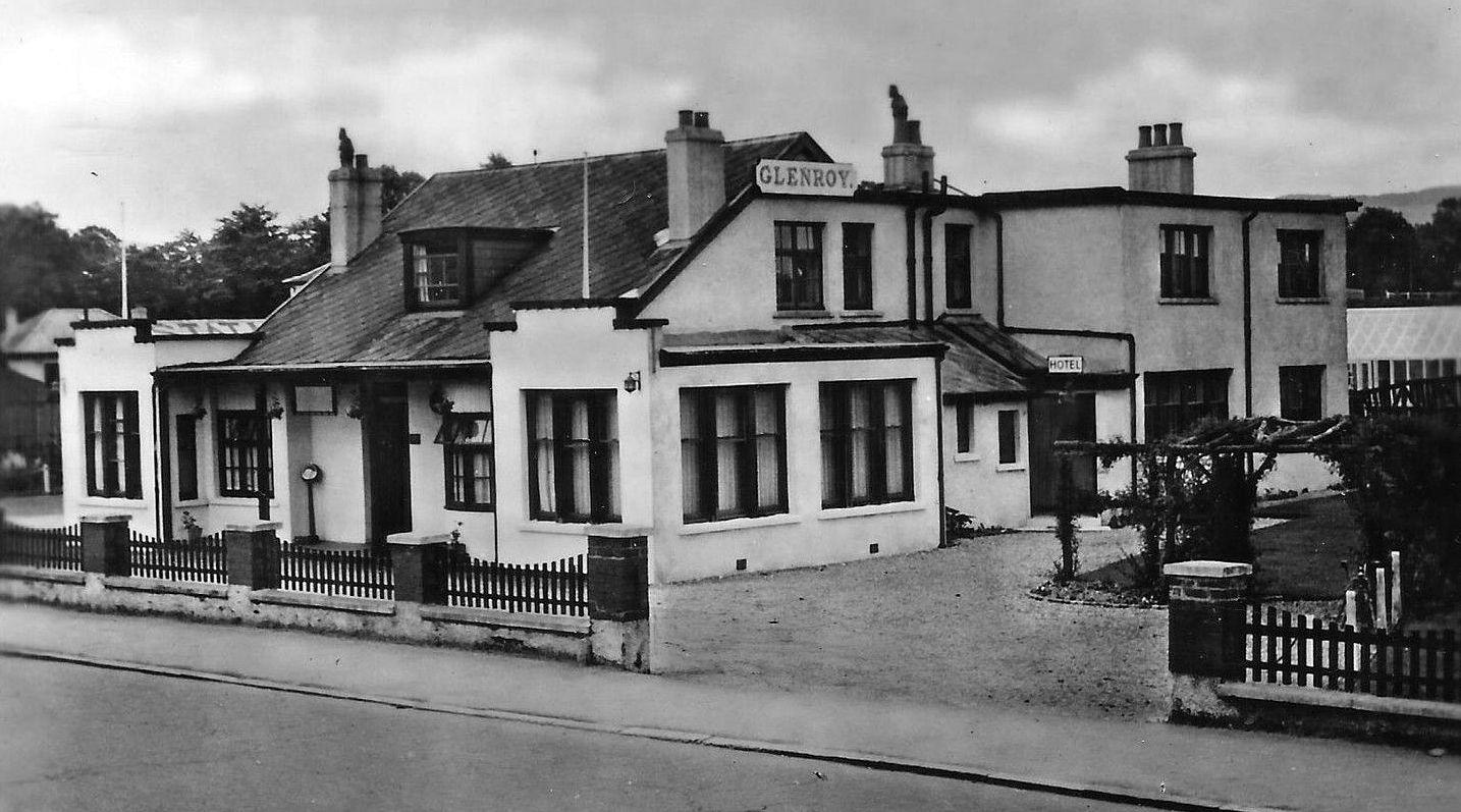 Old Photograph Glenroy Hotel Balloch Scotland