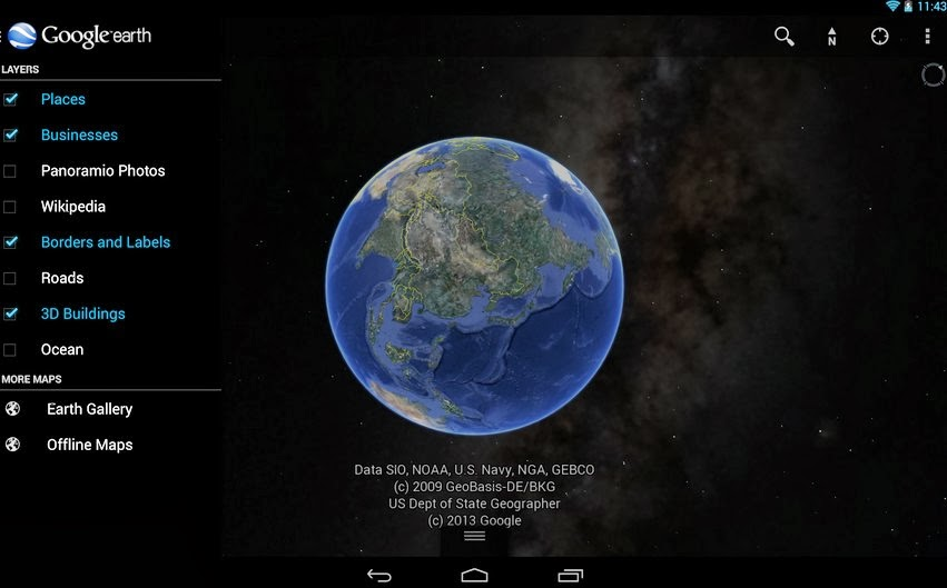 Google Earth Земля Android 1.5