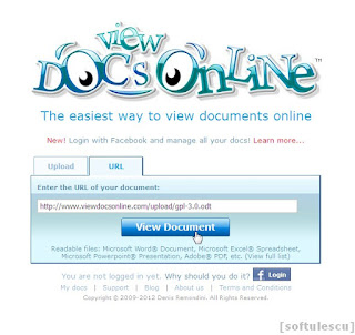 Deschide PDF online - vezi fisier via un link