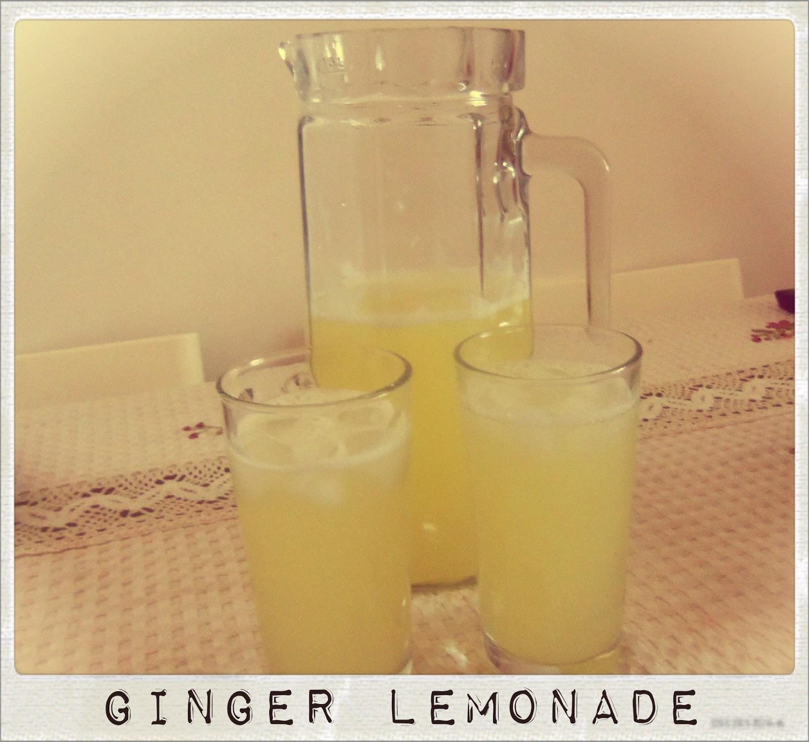 You've Got Meal!: Summer Drink- Fresh Ginger Lemonade