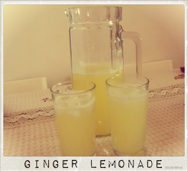 You've Got Meal!: Summer Drink- Fresh Ginger Lemonade