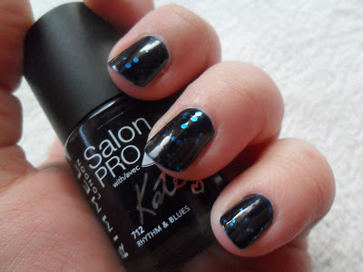Dark inky navy polish from Rimmel Kate Moss collection