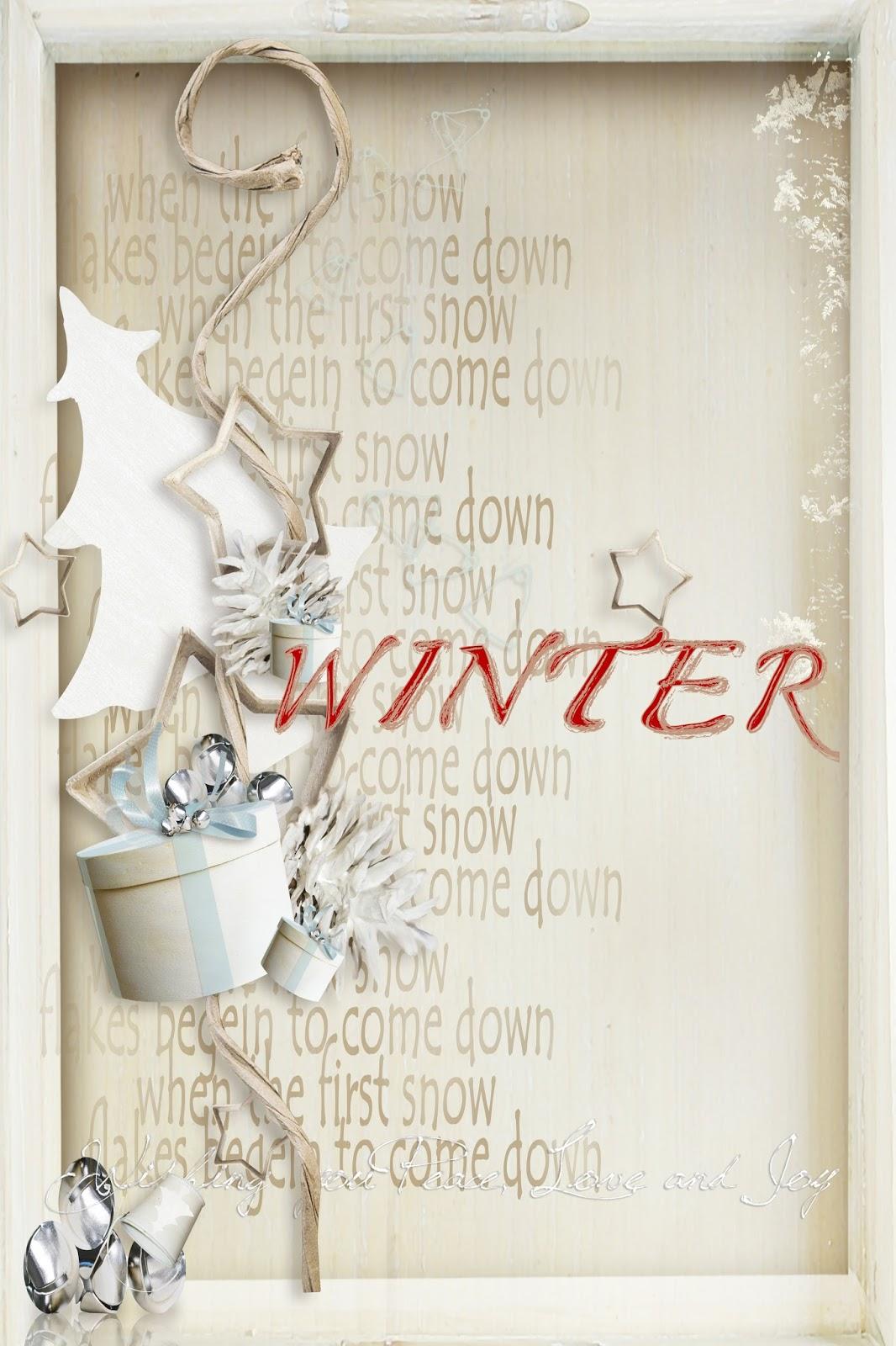 Скетч открытки - декабрь