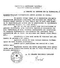 Volantini del C.L.N. per il trattamento dei Fascisti