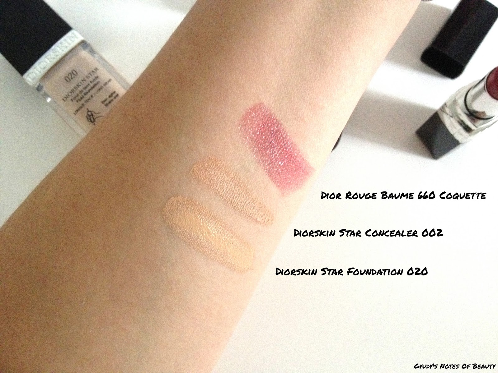 Diorskin Star Foundation Concealer Dior Rouge Baume Coquette Swatches