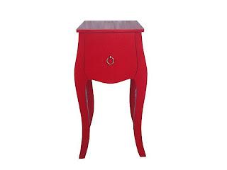 mesilla roja dormitorio, mesilla pequeña roja, mesita dormitorio