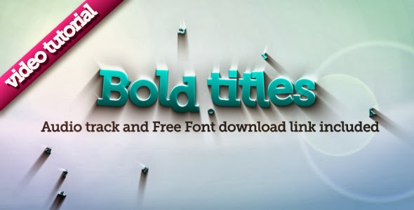VideoHive Bold Titles Logo Reveler