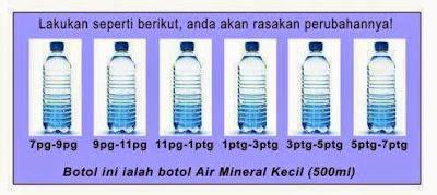 berapa banyak air perlu di minum