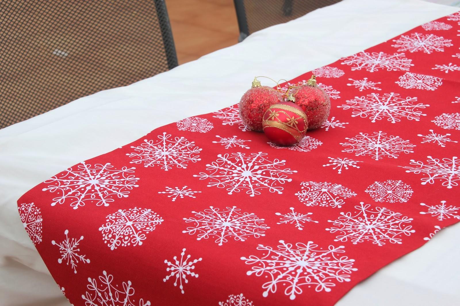Diy navidad camino de mesa navide o para decorar tu mesa - Ideas para hacer manteles ...