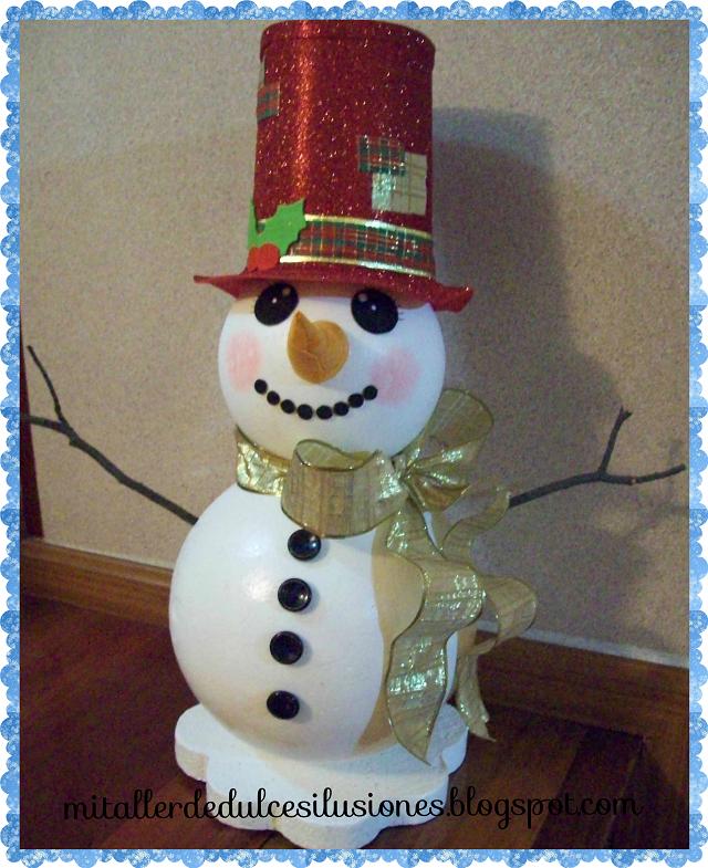 Mi taller de dulces ilusiones mu ecos de nieve para - Trabajos manuales para navidad economicos ...