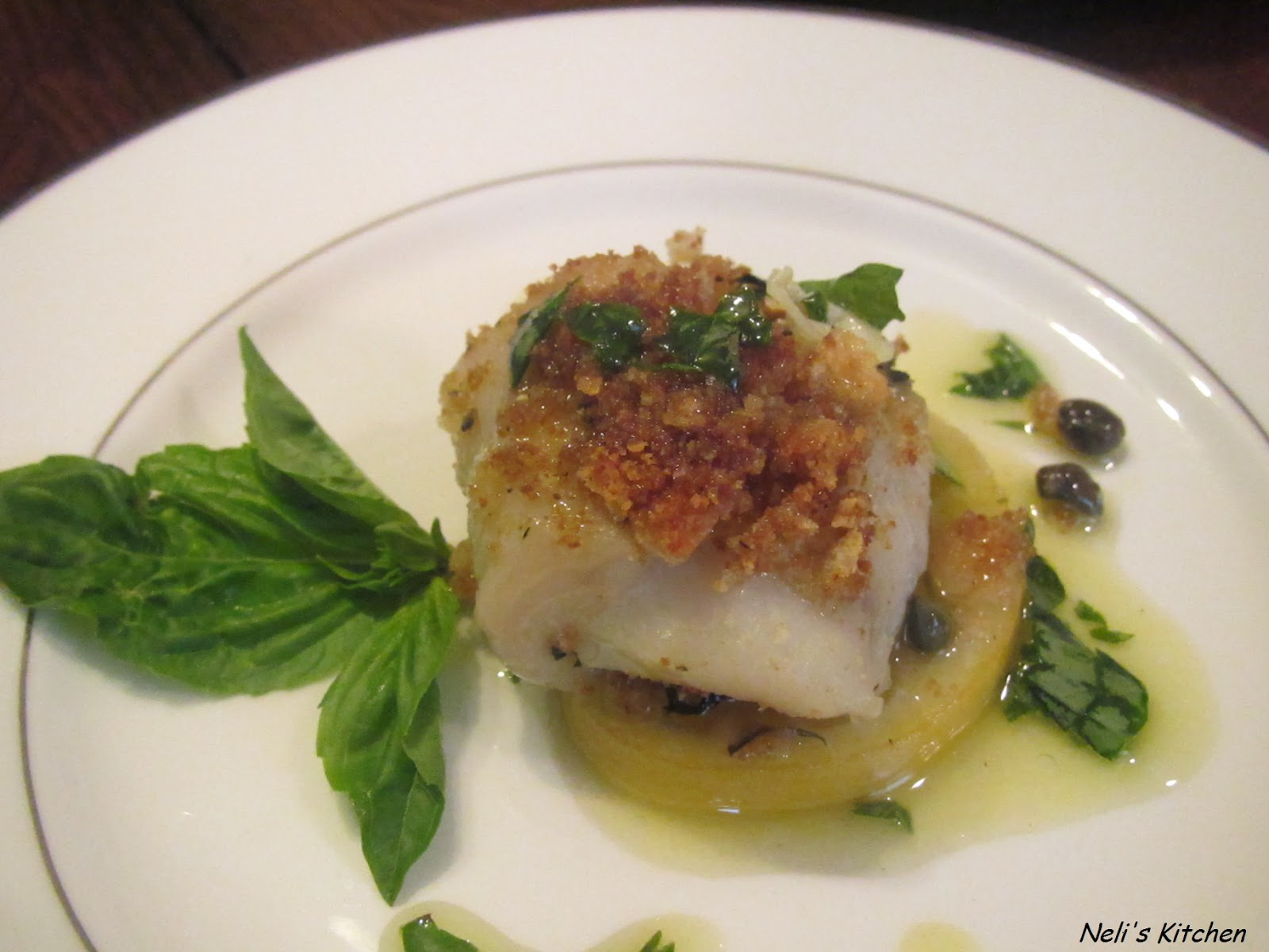 Baked basa in lemon and capers my easy cook for Basa fish fillet