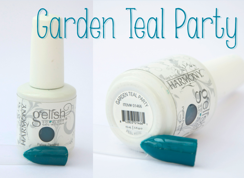 Gelish Garden Teal Party Spring Summer Gel Nail Varnish Green
