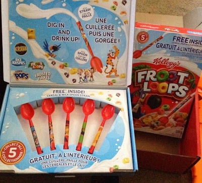 Kellogg's, Kellogger, cereal box treat, spoons,