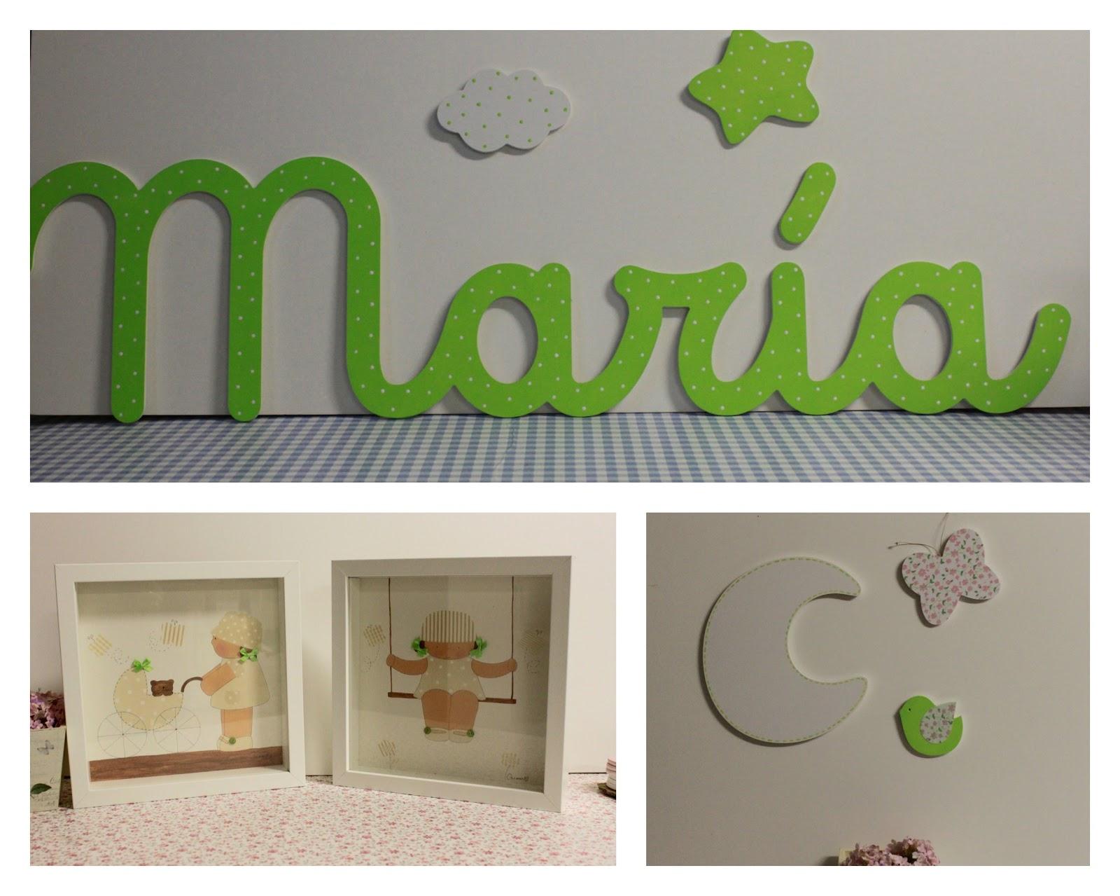 Letras y complementos en verde manzana decoraci n for Letras decoracion ikea